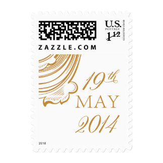 May 19, 2014 wedding postage stamps