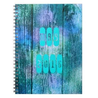May 2016 Purple Turquoise Month Monthly Notebook