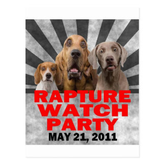 May 21, 2011 Rapture Watch Party Shirt Postcard
