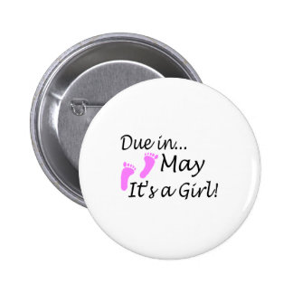 May 2 Inch Round Button
