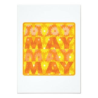 May 5 5x7 paper invitation card