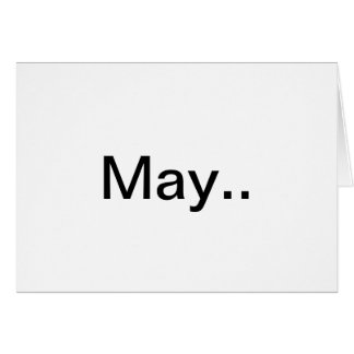 """""""May"""" a wedding blessing poem Card"""