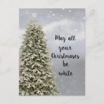May All Your Christmases Be White Holiday Postcard