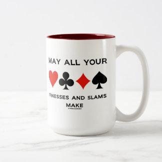 May All Your Finesses And Slams Make (Bridge) Coffee Mug