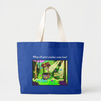 May All Your Wishes Come True Wishing Well Canvas Bags