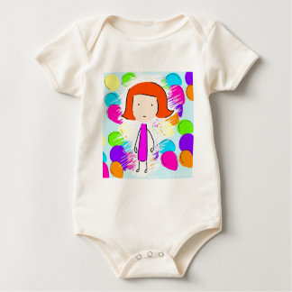 May and Balloons Baby Bodysuit