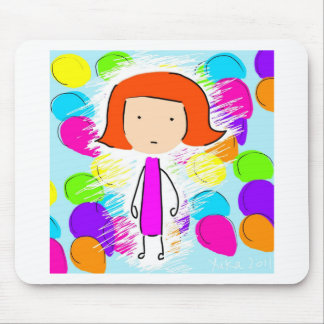 May and Balloons Mouse Pad