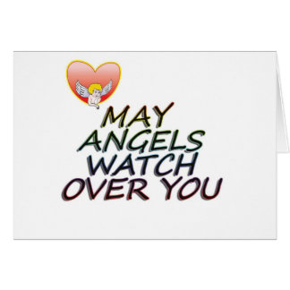 MAY ANGLES WATCH OVER YOU GREETING CARD