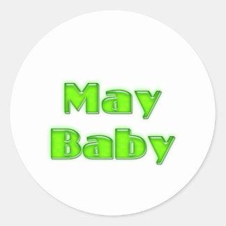 May Baby Round Sticker