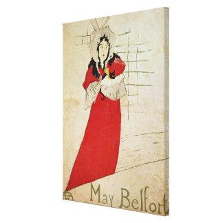 May Belfort, France, 1895 Canvas Print