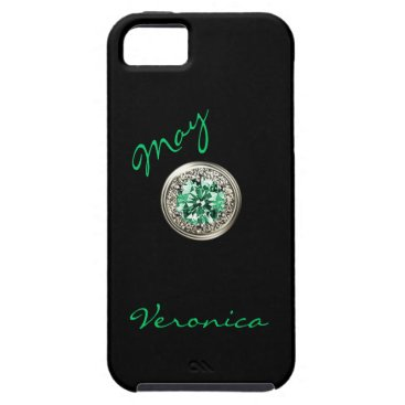 birthday May Birth Month Faux Gem Stone iphone 5 Case