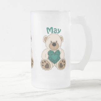 May Birthstone bear frosted mug