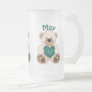 May Birthstone bear frosted mug
