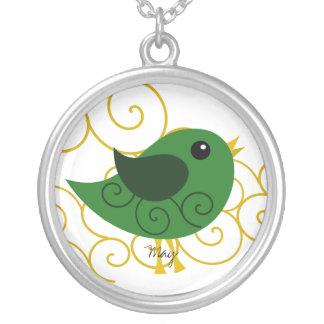 May  Birthstone Bird Necklaces