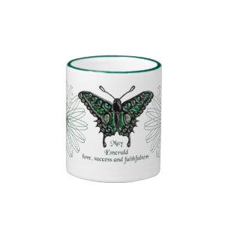 May Birthstone Butterfly Mug