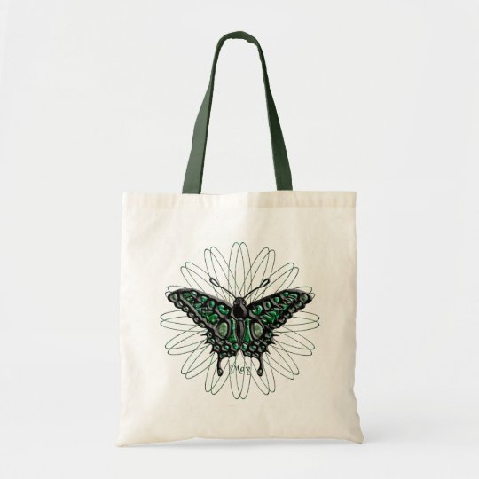 May Birthstone Butterfly Tote Bag