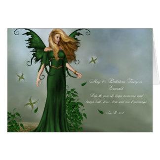 May Birthstone Fairy Card