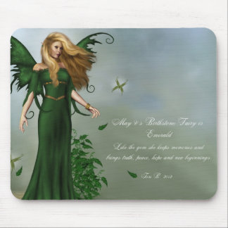 May Birthstone Fairy Mouse Pad