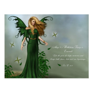 May Birthstone Fairy Postcard