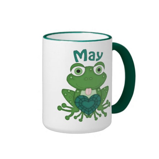 May Birthstone Frog coffee mug