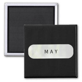 May Black Square Magnet by Janz