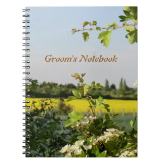 May Blossom Handfasting Groom's Notebook. Note Books