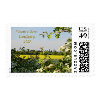 May Blossom Handfasting Pagan Postage Stamp