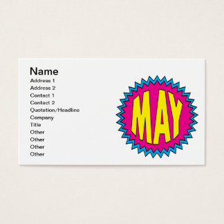 May Business Card