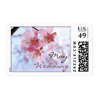May Cherry Blossom Wedding Stamps
