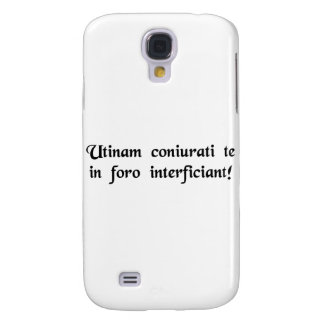 May conspirators assassinate you in the mall! samsung galaxy s4 cover