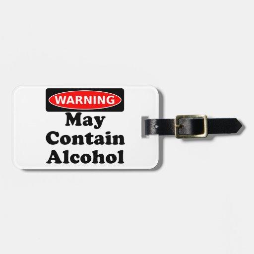 May Contain Alcohol Bag Tags