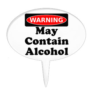 May Contain Alcohol Cake Topper