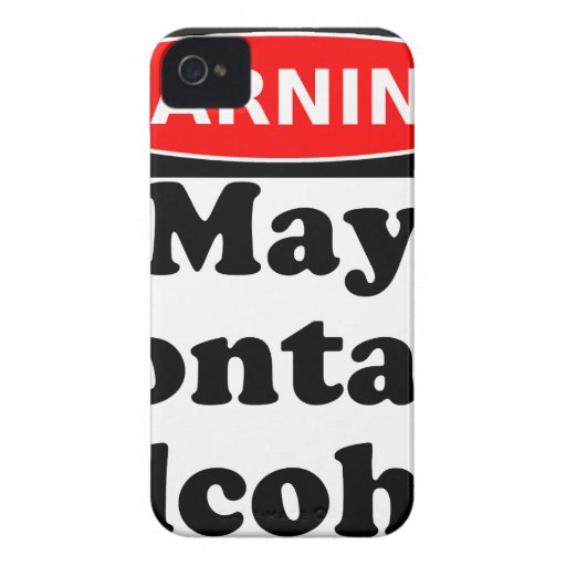 May Contain Alcohol iPhone 4 Cases