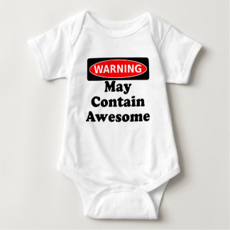 May Contain Awesome Baby Bodysuit