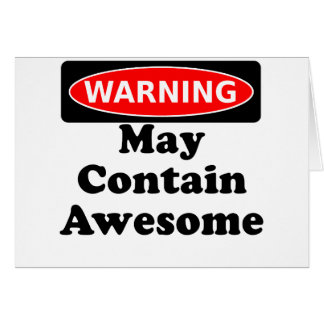 May Contain Awesome Card