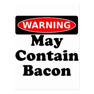 May Contain Bacon Postcard