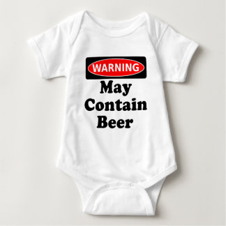 May Contain Beer Baby Bodysuit