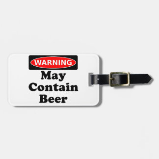 May Contain Beer Bag Tag