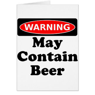 May Contain Beer Card