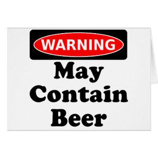 May Contain Beer Greeting Card