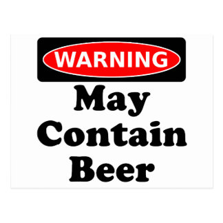 May Contain Beer Postcard