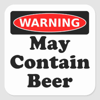 May Contain Beer Square Sticker