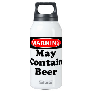 May Contain Beer Thermos Water Bottle