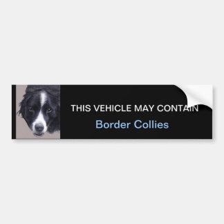 may contain Border Collies Car Bumper Sticker