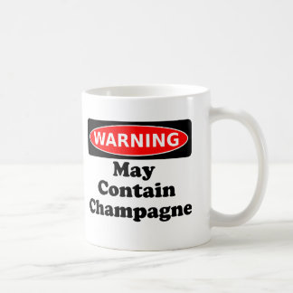 May Contain Champagne Classic White Coffee Mug