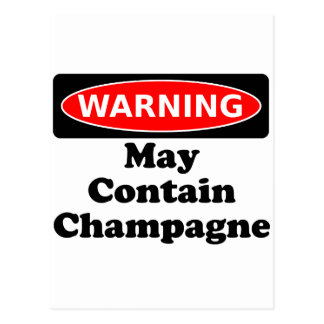 May Contain Champagne Postcard