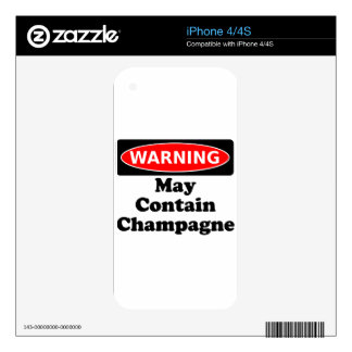 May Contain Champagne iPhone 4 Skin