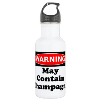 May Contain Champagne Water Bottle