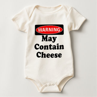 May Contain Cheese Baby Bodysuit