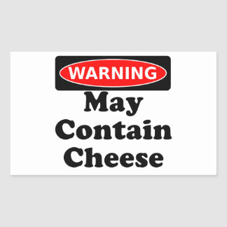 May Contain Cheese Rectangular Sticker